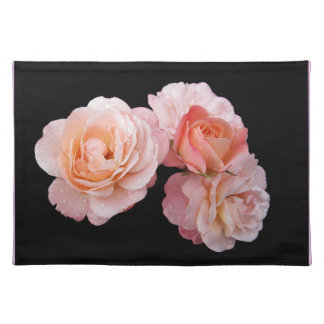 Peachy Pink Roses Placemats