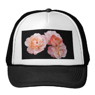Peachy Pink Roses Trucker Hat