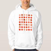 Peachy Polka Dot Pattern Hoodie