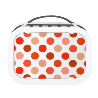 Peachy Polka Dot Pattern Lunchbox