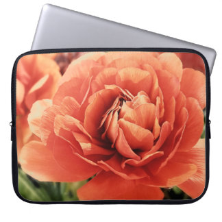 Peachy Ranunculus Laptop Sleeve