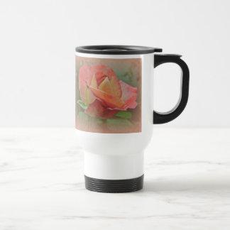 Peachy Rose Blossom Travel Mug