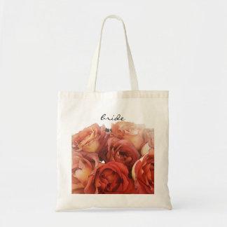 Peachy Roses Bride's Bag