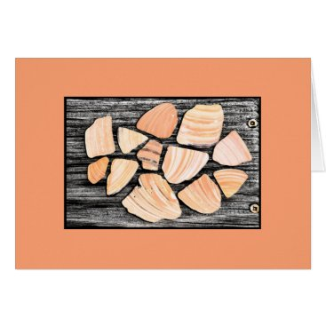 Beach Themed Peachy seashell collection from the beach card