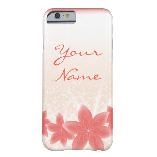 Peachy shiny flowers with sparkles iPhone Barely There iPhone 6 Case