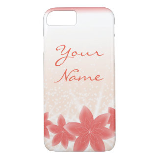 Peachy shiny flowers with sparkles iPhone iPhone 8/7 Case