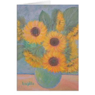 Peachy Sunflowers Card