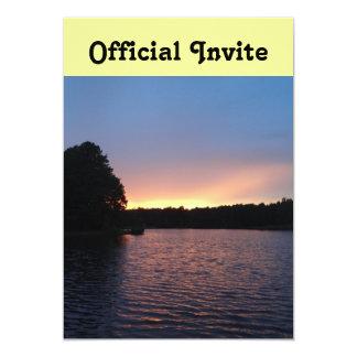 Peachy Sunset over Lake Swan, Georgia Card