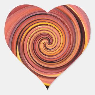 Peachy twirl heart sticker