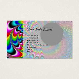 Peackock A Delic - Fractal Art Business Card