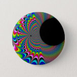 Peackock A Delic - Fractal Art Button