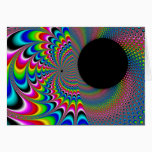 Peackock A Delic - Fractal Art Card