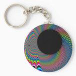Peackock A Delic - Fractal Art Keychain