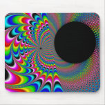 Peackock A Delic - Fractal Art Mouse Pad