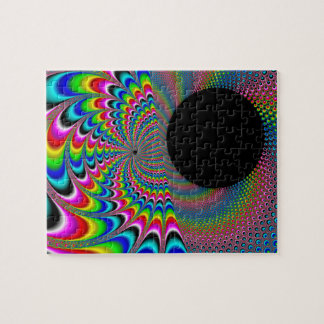 Peackock un Delic - arte del fractal Puzzle Con Fotos