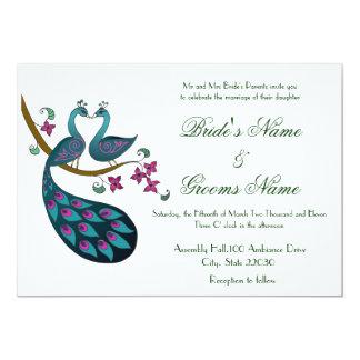 Peacock -1 Wedding invites