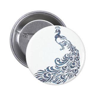 Peacock #2 pinback button