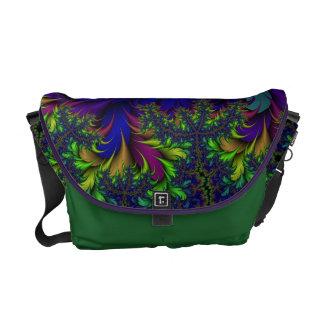 Peacock 6 - Dark Multi Courier Bag