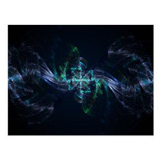 Peacock Abstract Fractal Artwork Postcard
