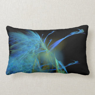 Peacock Abstract Lumbar Pillow