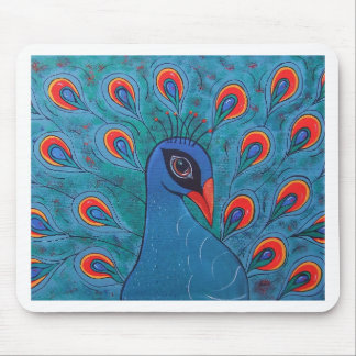 Peacock Abstract Mouse Pad