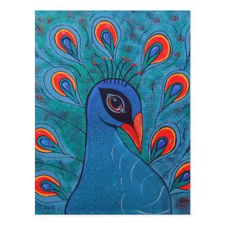 Peacock Abstract Postcard