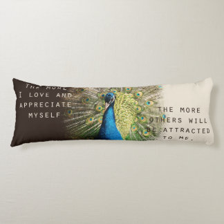 Peacock Affirmation Body Pillow