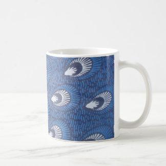 Peacock African Ankara print mug