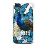 Peacock and blue butterflies iPod touch (5th generation) cases
