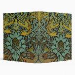 Peacock and Dragon William Morris Tapestry Design Binders