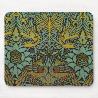 Peacock and Dragon William Morris Tapestry Design Mouse Pad