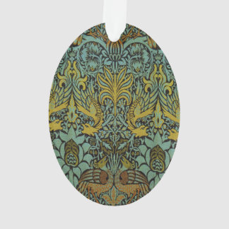 Peacock and Dragon William Morris Tapestry Design Ornament