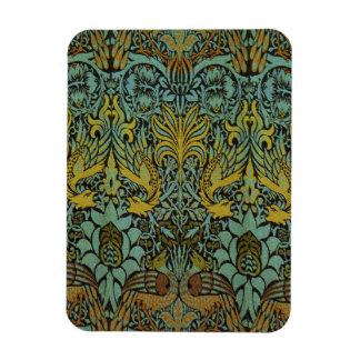 Peacock and Dragon William Morris Tapestry Design Rectangular Photo Magnet