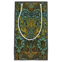 Peacock and Dragon William Morris Tapestry Design Small Gift Bag