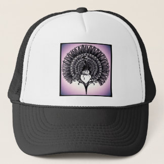Peacock and Heart Trucker Hat