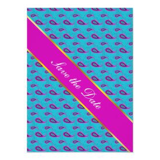 Peacock and Magenta Paisley Pattern Card