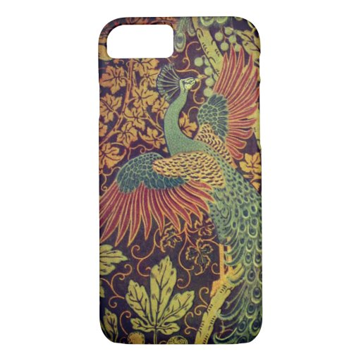 Peacock and oakleaf victorian jacquard iPhone 8/7 case