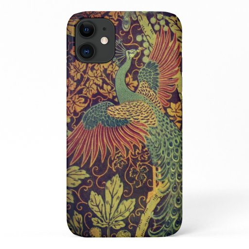 Peacock and oakleaf victorian jacquard iPhone 11 case
