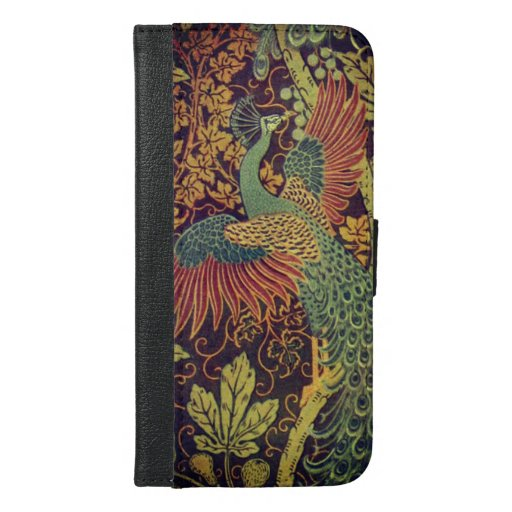 Peacock and oakleaf victorian jacquard iPhone 6/6s plus wallet case