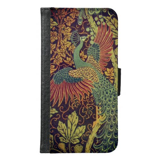 Peacock and oakleaf victorian jacquard samsung galaxy s6 wallet case