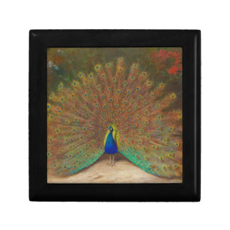 Peacock and peacock butterfly jewelry box