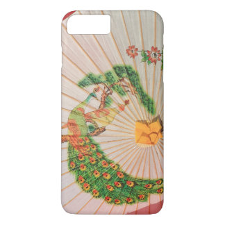 Peacock and Peahen Parasol iPhone 7 Plus case