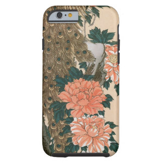 Peacock and Peonies by Hiroshige, Japanese Art iPhone 6 Case