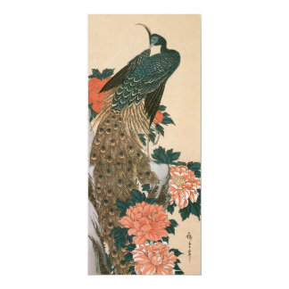 Peacock and Peonies by Hiroshige, Japanese Art Announcement