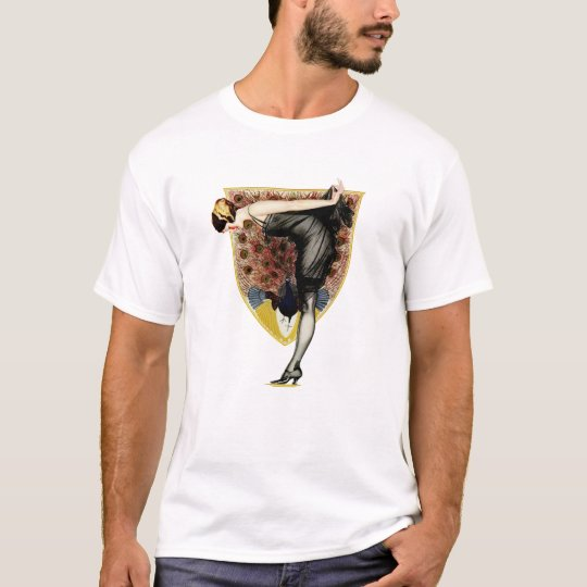 Peacock and Pin Up T-Shirt