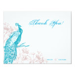 Peacock and Roses Card
