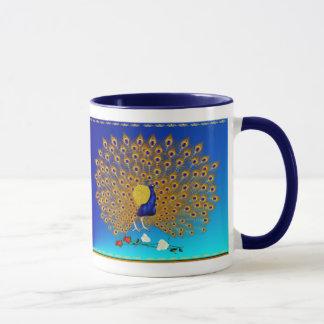 Peacock and Roses Mugs