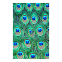 peacock animal print - feathers stationery