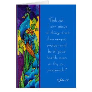 Peacock Art Painting Card