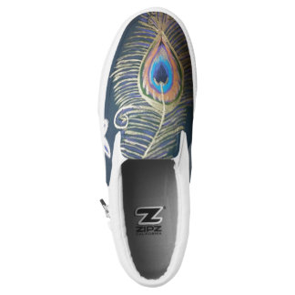 Peacock Art Slip-On Sneakers